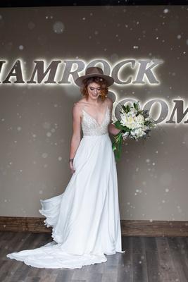 Bride at The Shamrock Room in Brevard