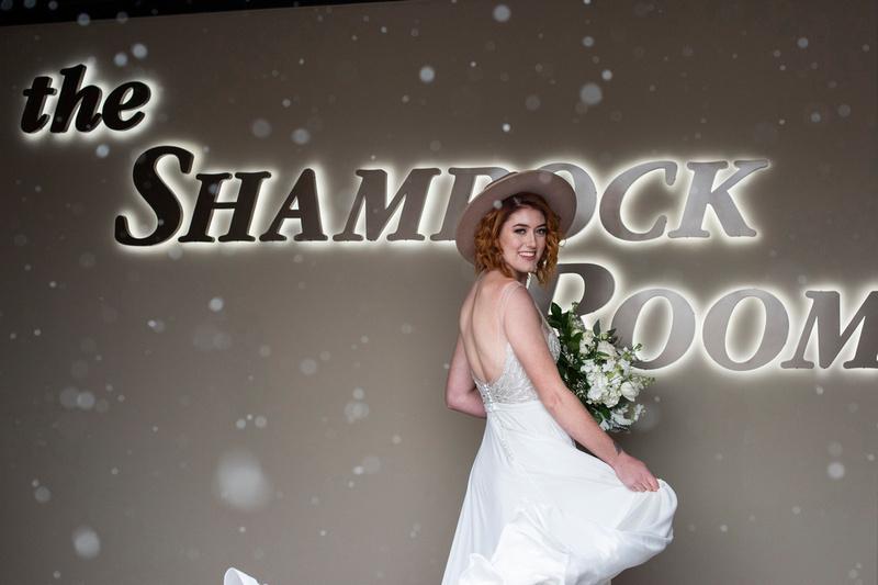 Winter bride at The Shamrock Room in Brevard