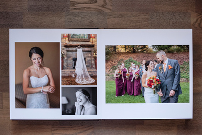 Jessica Merithew Photography wedding album sample in Asheville