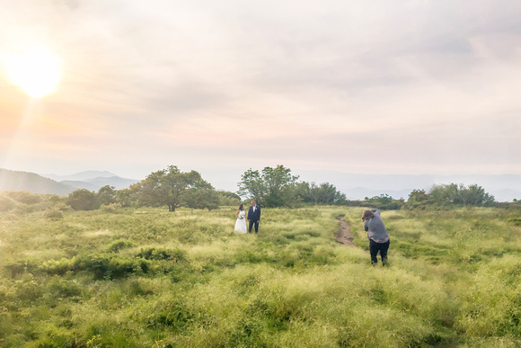 Behind the scenes at Craggy Gardens near Asheville with Jessica Merithew Photography
