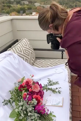 Behind the scenes wedding photography with Jessica Merithew photography at The Foundry Hotel in Asheville