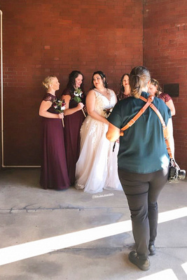 Behind the scenes wedding photography with Jessica Merithew photography in downtown Asheville