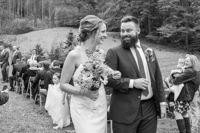 Couple in black and white at Brahma Ridge in Asheville