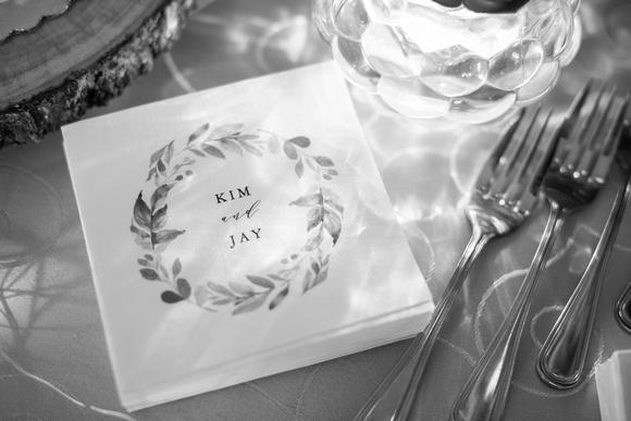The Esmeralda Inn Chimney Rock wedding napkins