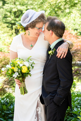 Summer wedding picture at The Esmeralda Inn Chimney Rock