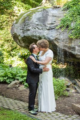 Wedding portrait at The Esmeralda Inn Chimney Rock