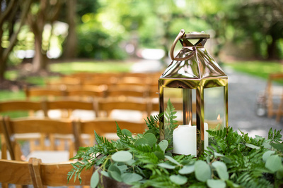 Lantern at wedding at Hawkesdene in Andrews near Asheville