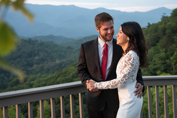 Mountain top wedding photos at Hawkesdene in Andrews near Asheville