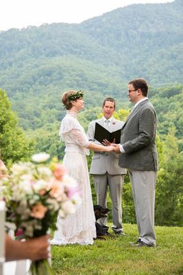 Mountain view wedding at Engadine Inn in Asheville