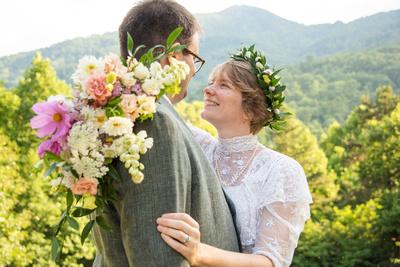 Wedding photos at Engadine Inn in Asheville