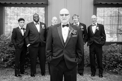 Groom and groomsmen photo at The Lodge at Flat Rock near Asheville