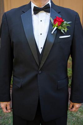 Grooms tuxedo at The Lodge at Flat Rock wedding