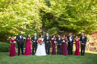 Wedding party at The Lodge at Flat Rock near Asheville