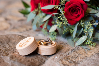 Wedding rings and details at The Lodge at Flat Rock in Hendersonville