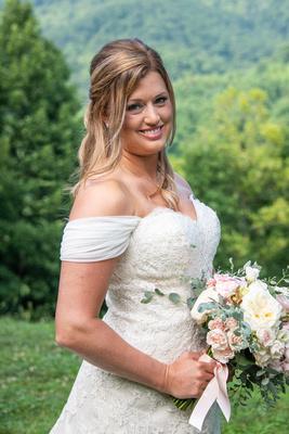 Bridal portrait at Engadine Inn Wedding in Asheville