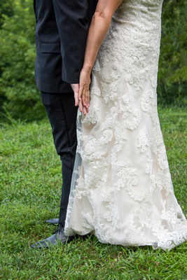 First look detail photo at Engadine Inn Wedding in Asheville