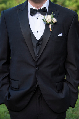 Grooms suit at Engadine Inn Wedding in Asheville