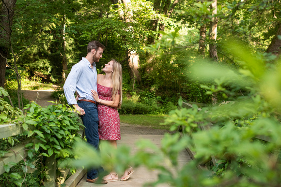 Summer proposal photography at Botanical Gardens in Asheville