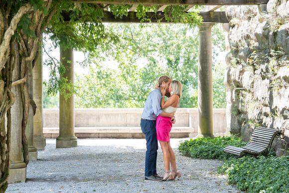 Summer proposal at Biltmore Estate under pergola