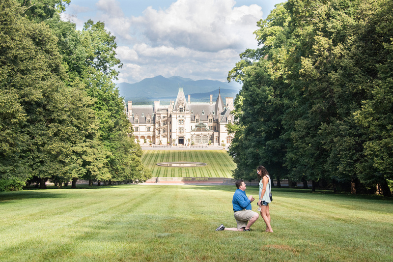 Biltmore engagement photographer for proposal in Asheville