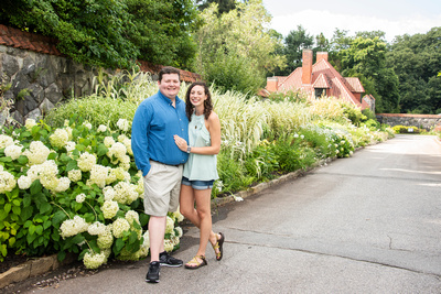 Engagement photos at Biltmore in walled garden in Asheville