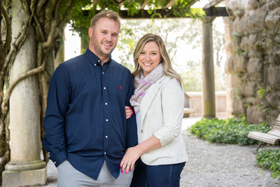 Engaged couple after proposal at Biltmore Estate in Asheville