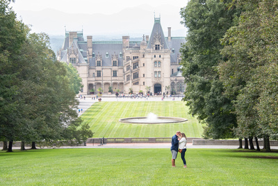 Proposal photography at Biltmore Estate in Asheville engagement