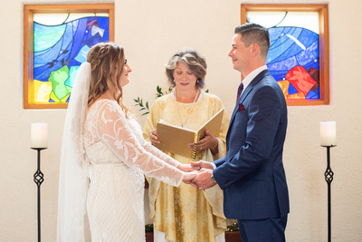 West Asheville Tiny Chapel wedding ceremony in October