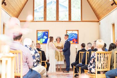 West Asheville Tiny Chapel wedding ceremony