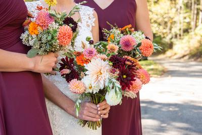 Wedding bouquets by Carolina Flowers in Asheville