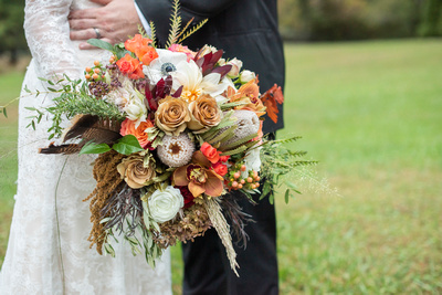 Fall wedding bouquet by Flowers by Larry at Highland Lake Inn