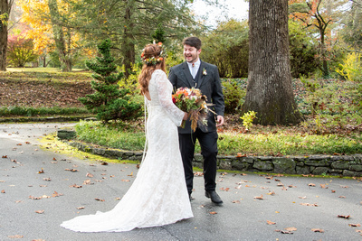 First look wedding photos at Highland Lake Inn in Flat Rock NC