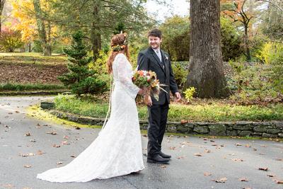 First look wedding photos at Highland Lake Inn near Asheville