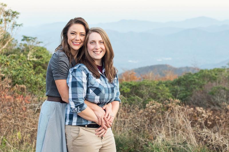 Fall mountain top portrait at Craggy Gardens near Asheville