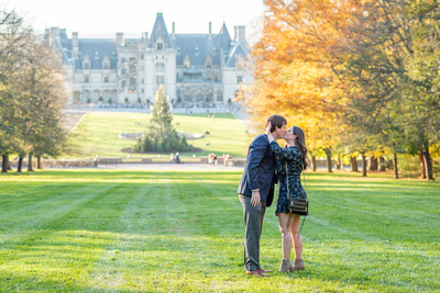 Biltmore Estate in Asheville engagement proposal in fall