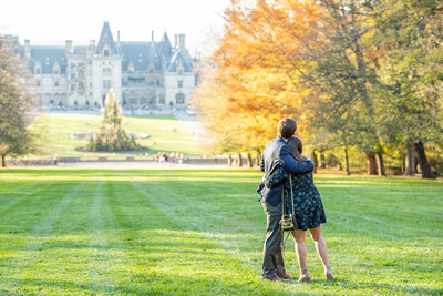 Fall engagement at Biltmore Estate in Asheville