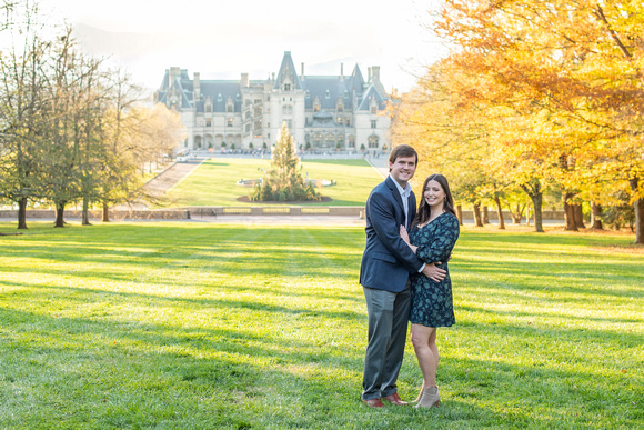 Fall engagement photos at Biltmore Estate in Asheville