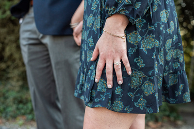 Oval diamond engagement ring at Biltmore Estate in Asheville
