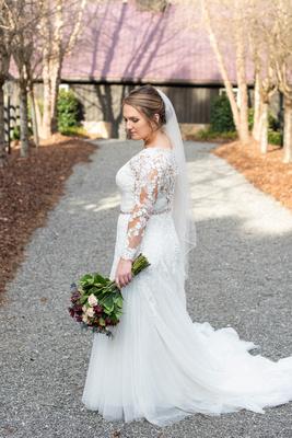 Bridal portrait Hawkesdene in Andrews NC