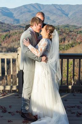 Mountain top wedding at Hawkesdene wedding near Asheville