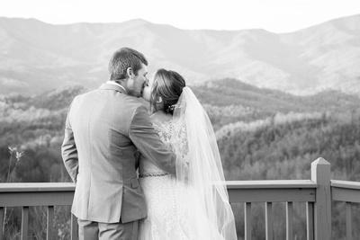 Mountain top wedding photos at Hawkesdene wedding near Asheville