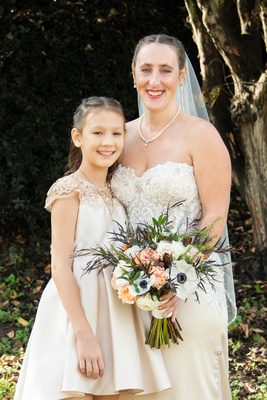 Bride and daughter at Stone River in Columbia SC wedding