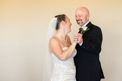 Bride and groom first dance at Stone River in Columbia SC