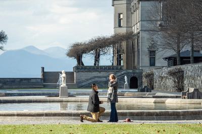 Bitmore Estate Asheville proposal in the Italian Garden