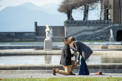 Proposal photography at Bitmore Estate in Asheville