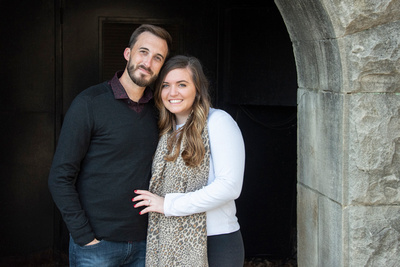 Engagement photo at Biltmore Estate in Asheville