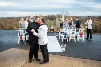 Columbus, NC wedding ceremony with same sex couple