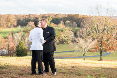 Gay wedding photos near Asheville, NC