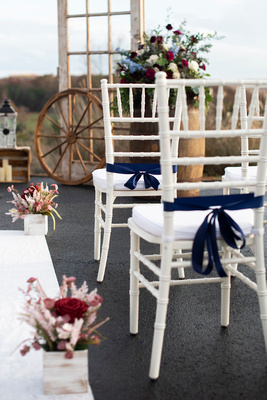 Rustic wedding ceremony decor near Asheville, NC