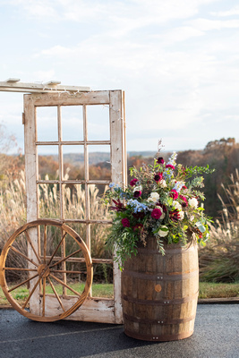 Rustic wedding decor at same sex wedding near Asheville, NC